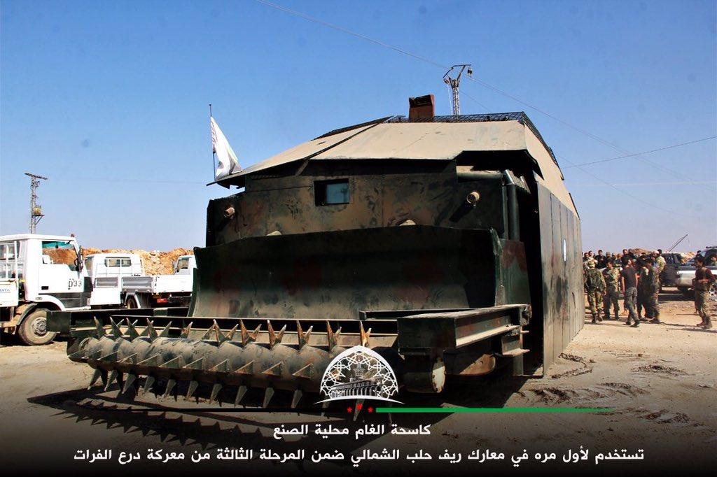 كاسحة ألغام صنعتها قوات من درع الفرات لمواجهة داعش CuZ0HZOXgAA9ZF3