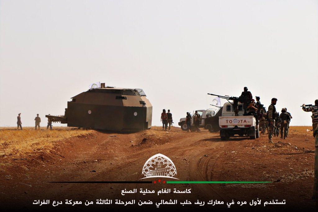 كاسحة ألغام صنعتها قوات من درع الفرات لمواجهة داعش CuZ0HZVWEAAXZ6m
