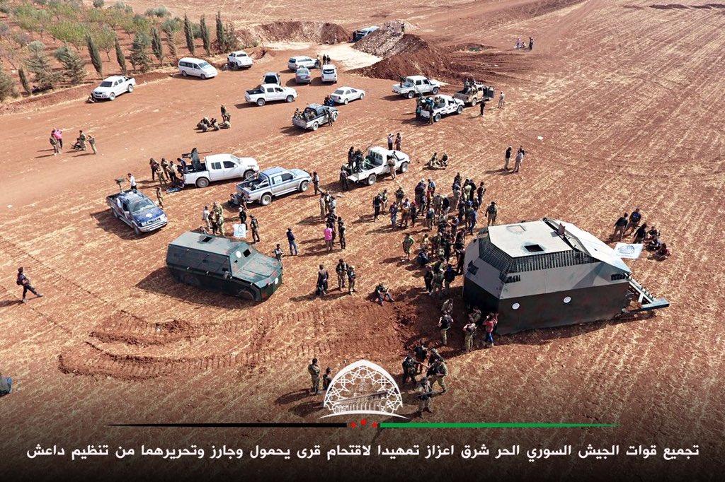 كاسحة ألغام صنعتها قوات من درع الفرات لمواجهة داعش CuZ0HZxWYAA01o0