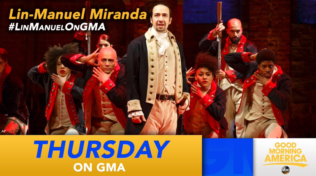 That's right, @lin_manuel miranda will be live on @gma this