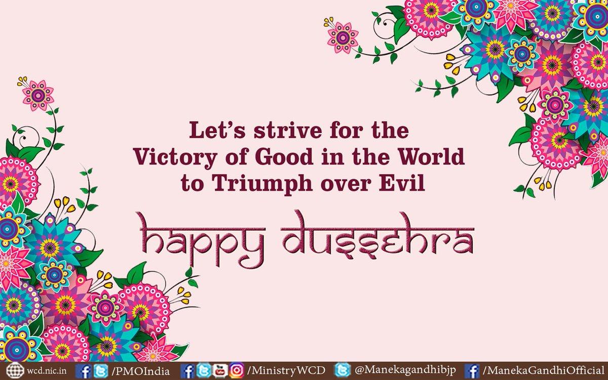 Maneka Gandhi On Twitter Dussehra Greetings To All