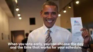 Killer video featuring @POTUS, @stefcutter (!), and @ReggieLove33 on the joys of voting early. https://t.co/bawaPUFXV1