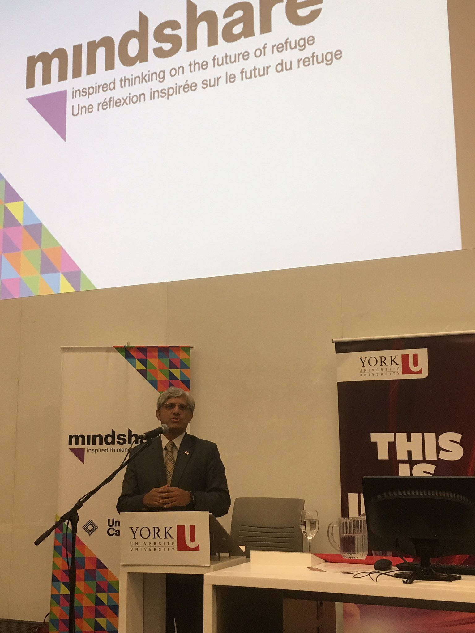 @ShafiqQaadriMPP from Ontario Ministry of Citizenship & Immigration opens #Mindshare2016 at @yorkuniversity #cdnpse https://t.co/0b3BCLUwX8