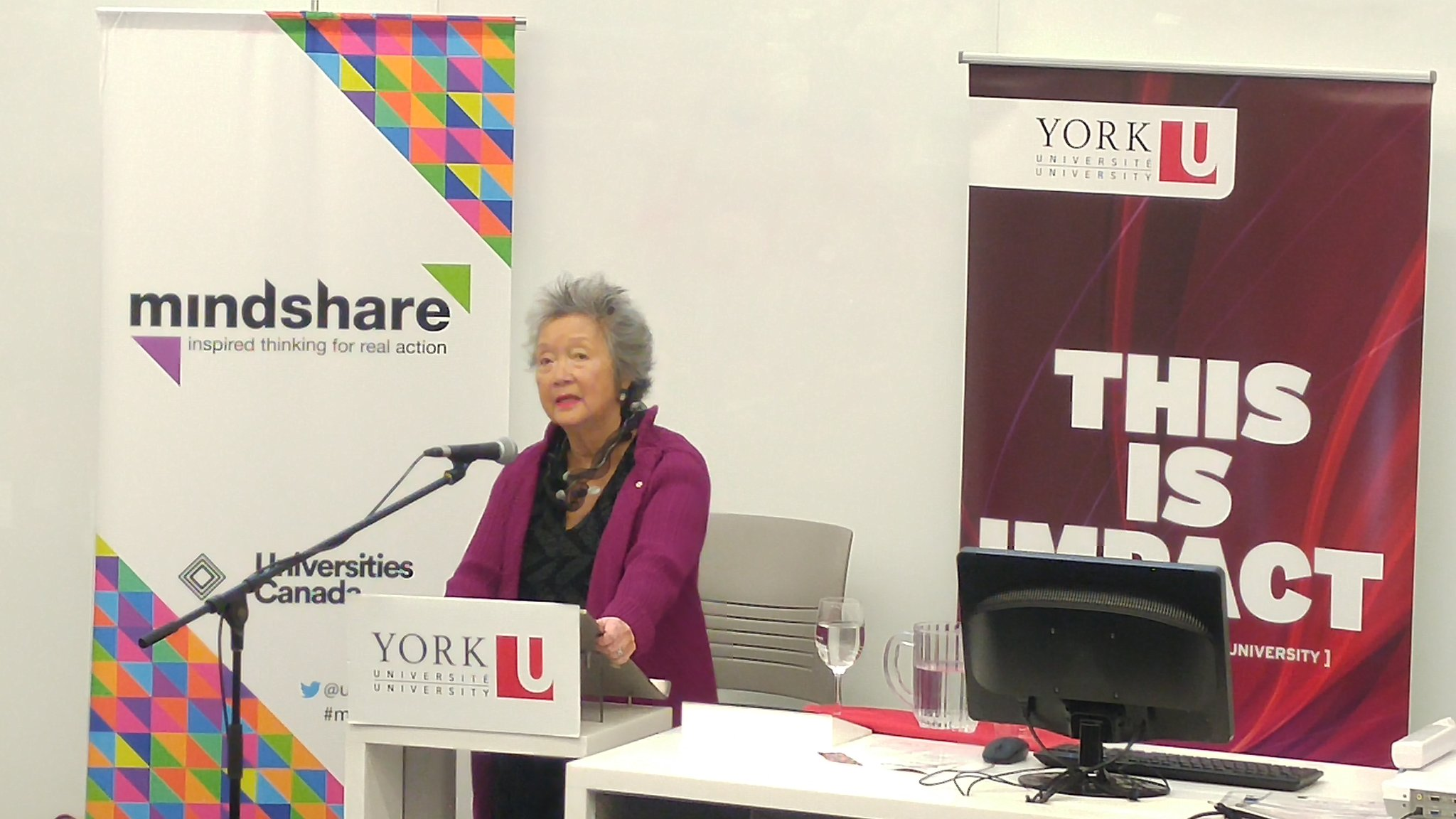 Refugees arrive with a deep sense of loss, and are determined to build so as to not lose again. - Rt. Hon. Adrienne Clarkson #mindshare2016 https://t.co/4cCvRerr08