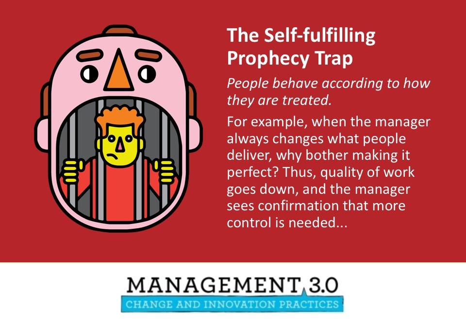 Jurgen Appelo On Twitter The Self Fulfilling Prophecy Trap