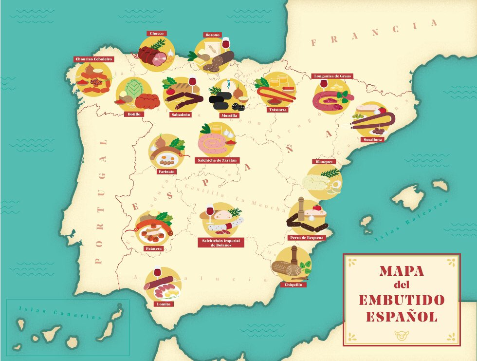 Madrid Comestible on Twitter Fantstico mapa del embutido