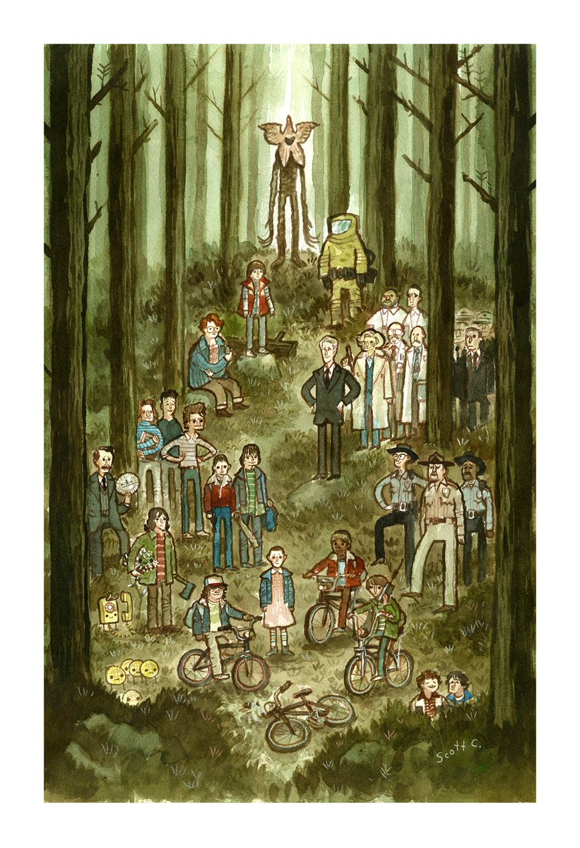 """Here is the final painting. """"Forest of Things"""". New print for @MondoConAustin this weekend... https://t.co/pSxhkyLVCo"""
