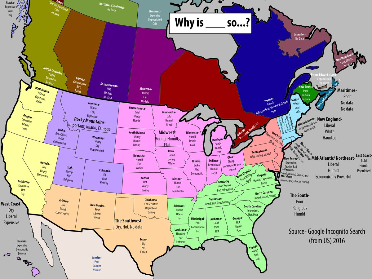 """Why is _____ so..."" autocomplete Google search results for each state  Lol at UK https://t.co/w1PDv6V50k"