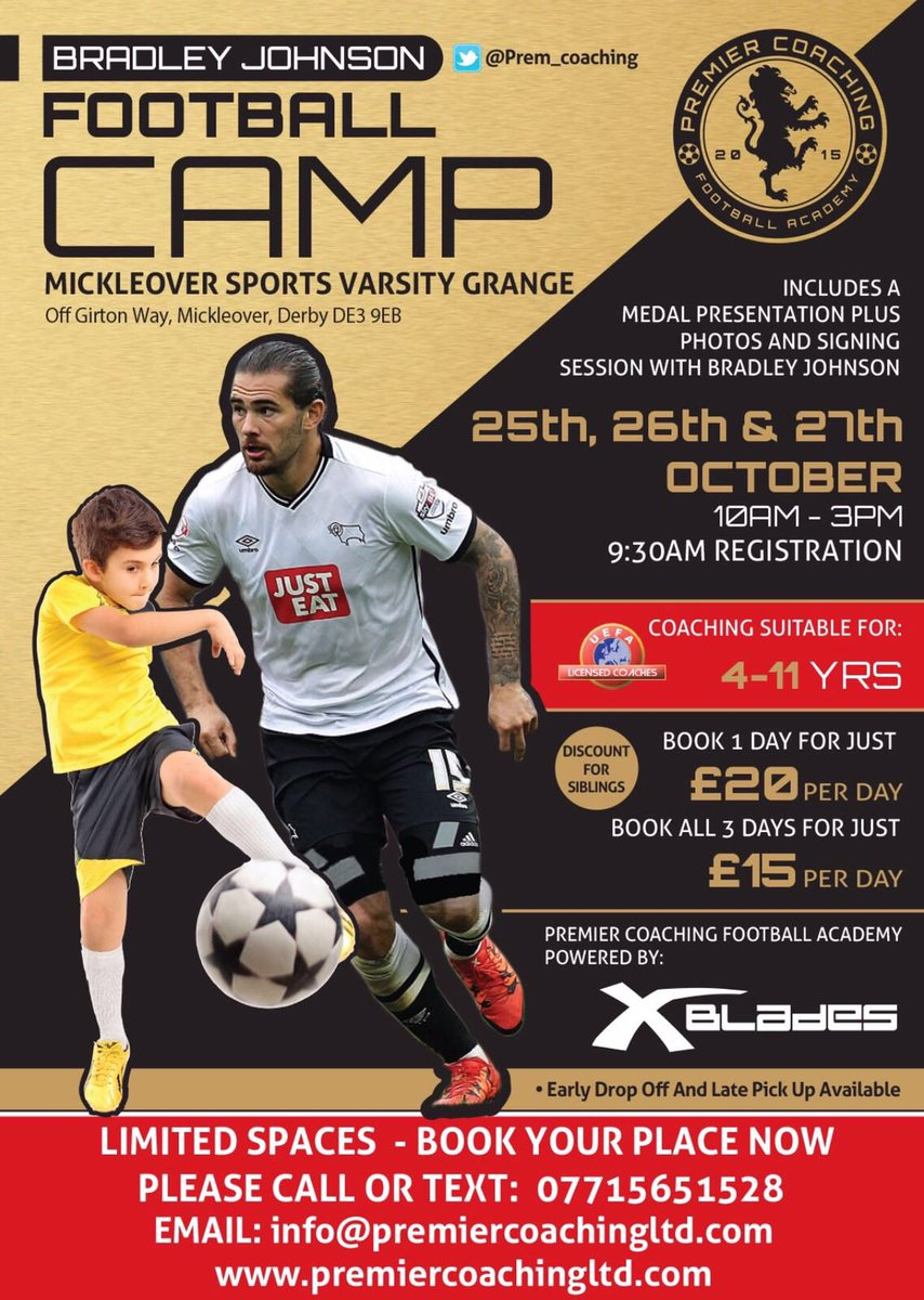 Looking forward to my second camp at Mickleover hope to see you there!