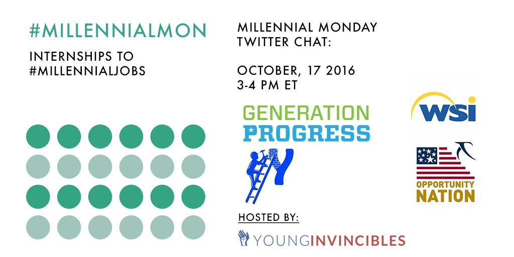 Welcome to #MillennialMon! Today's topic: From Internships to #MillennialJobs https://t.co/pWVznCANSa