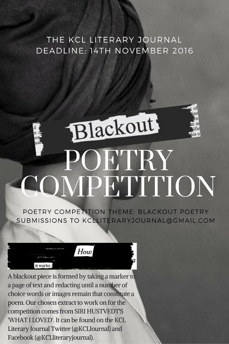 Gmail marker theme - Kcl Literary Journal On Twitter Our Beautiful Poster For Our Aw16 Poetry Competition For More Information Check Our Facebook Page