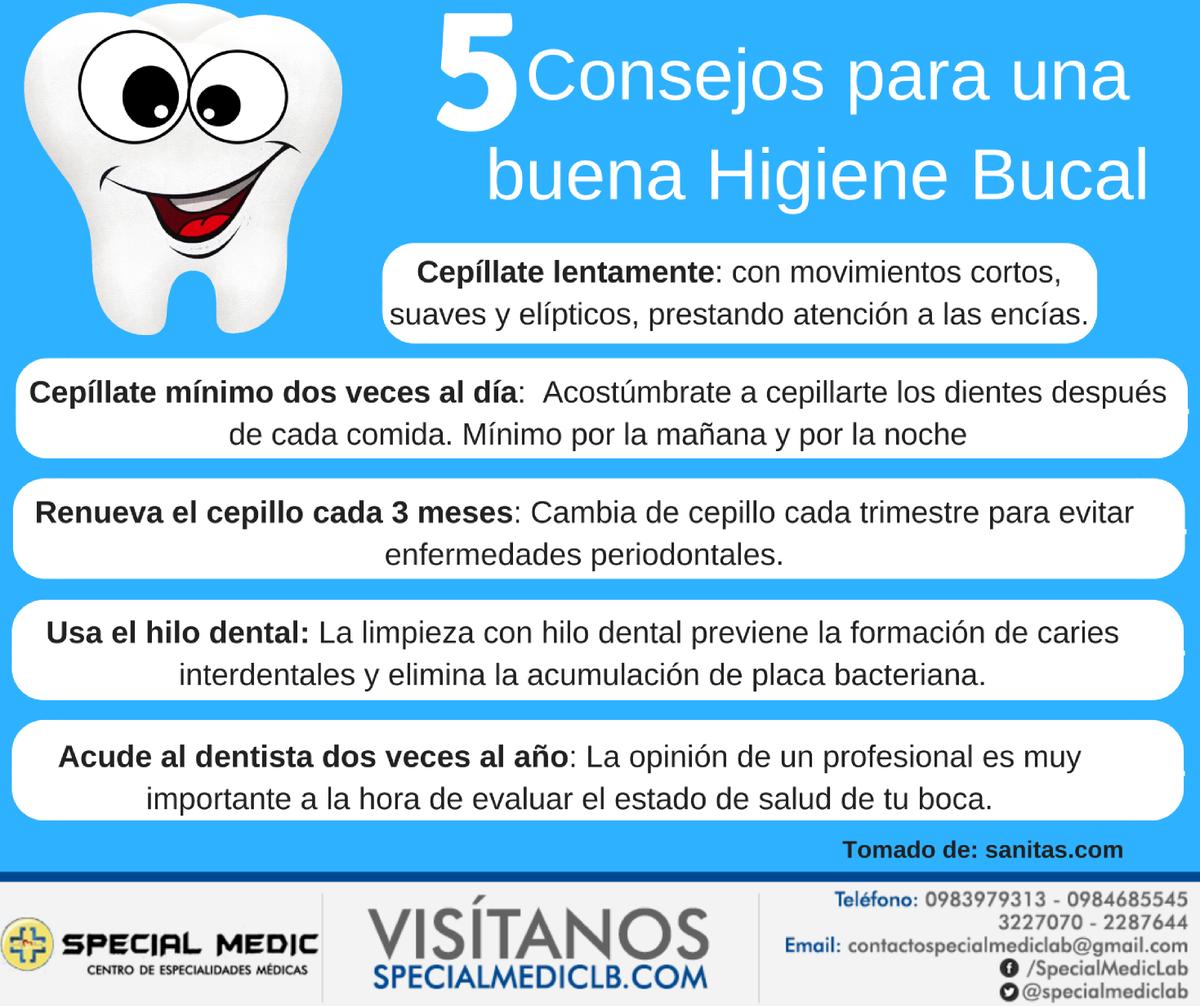 tips para tener una buena higiene bucal