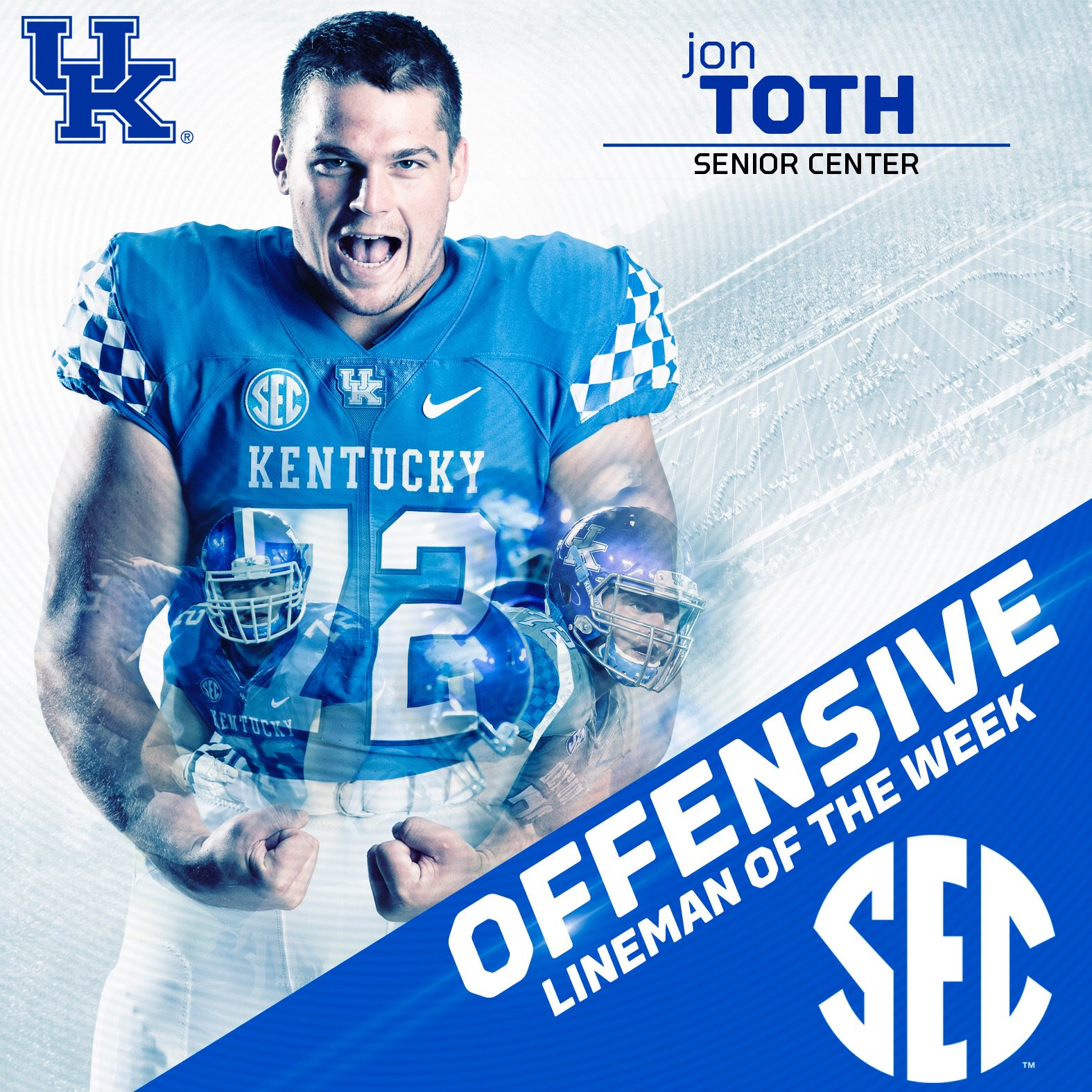 sports shoes 3e54e 8441d Jon Toth named SEC Offensive Lineman of the Week | Kentucky ...