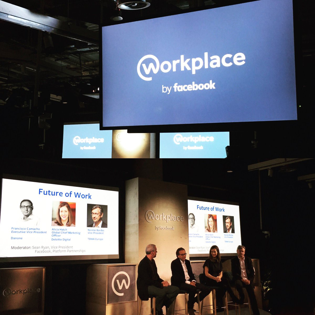 Launching Workplace By Facebook, with our friends from Deloitte Digital, TBWA and Danone. https://t.co/BfqxEM2YrS