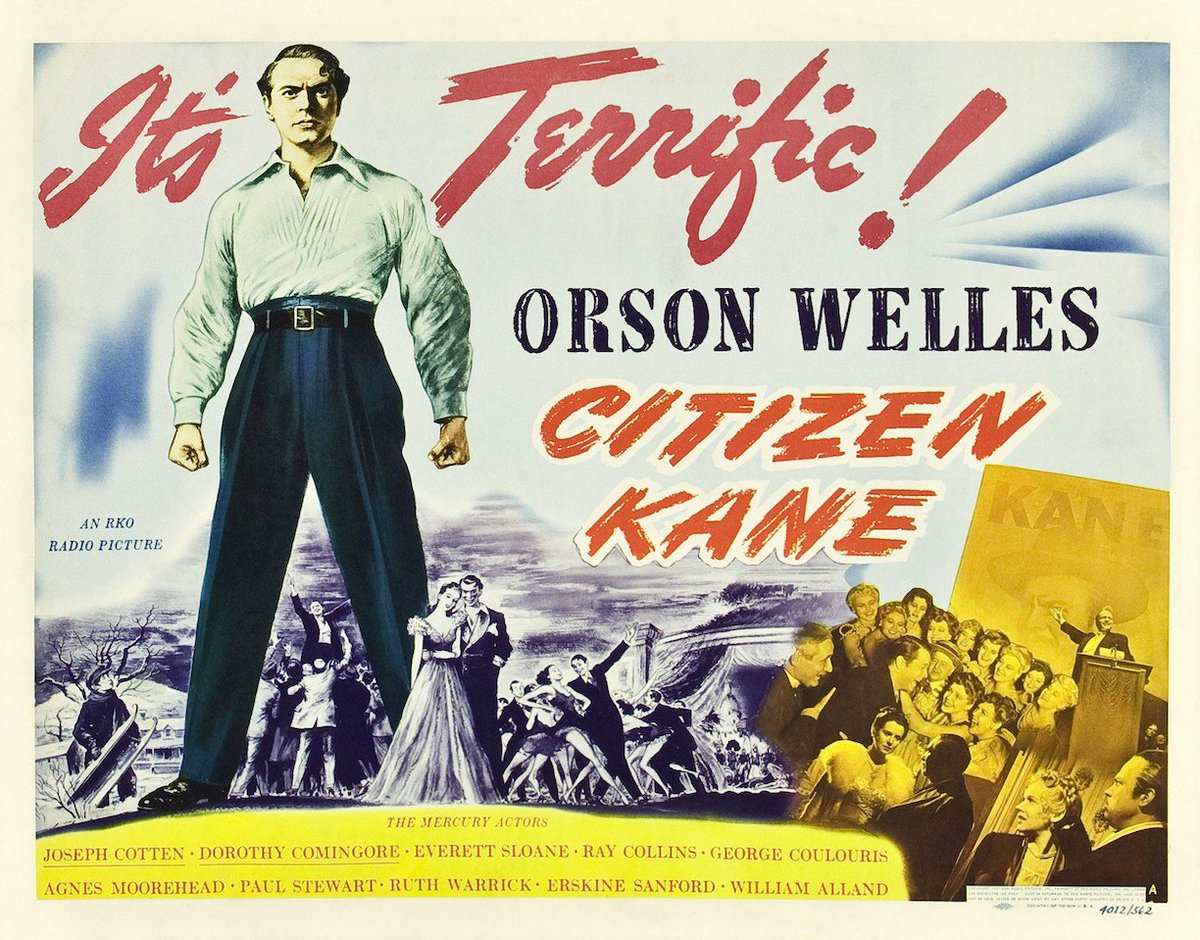 RT @RomanceInTheDrk Orson Welles died 31 years ago today, aged 70. He was 24 when he made Citizen Kane.
