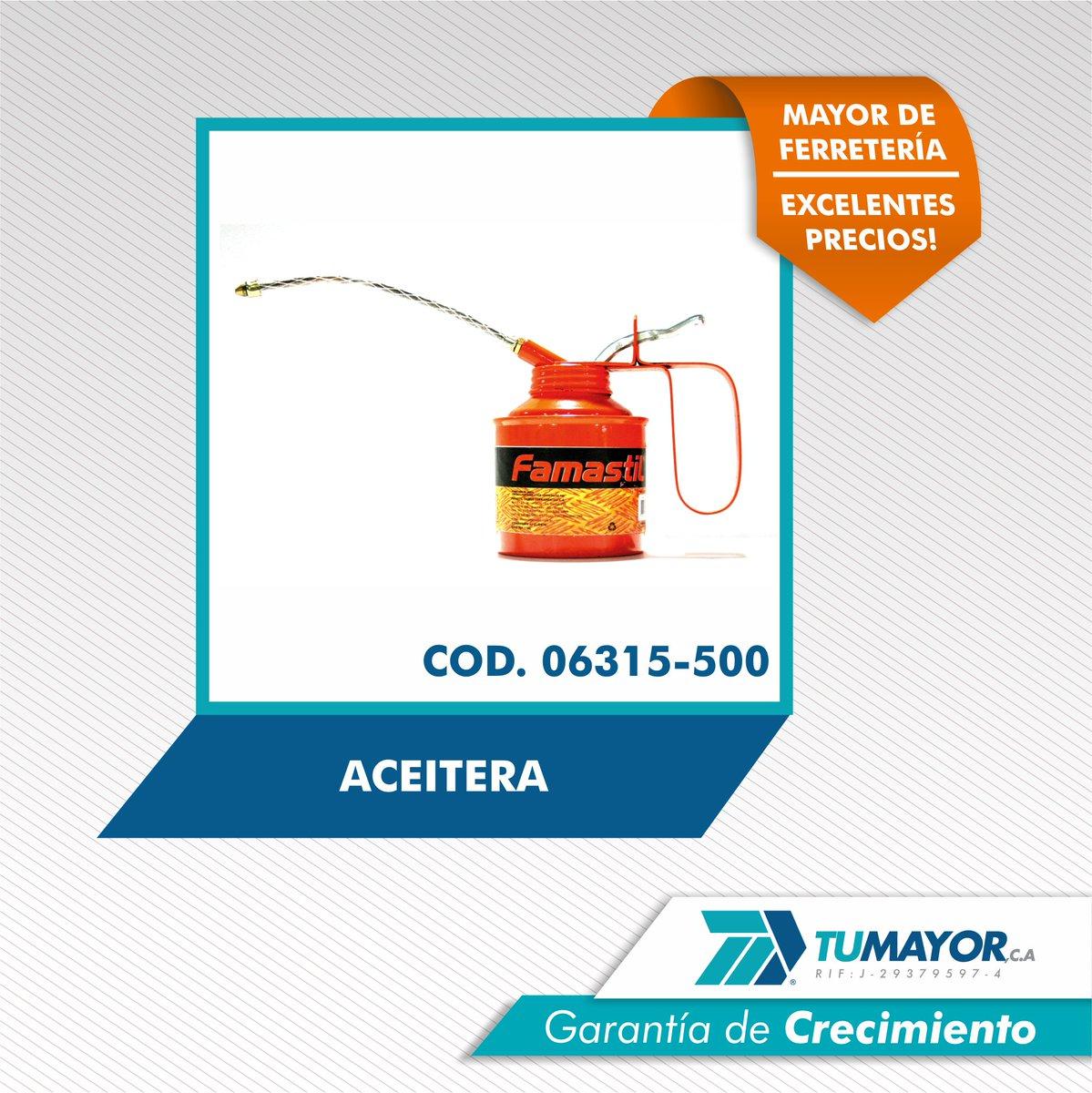Cod. 0631-500. Aceitera. #tumayor #GarantiadeCrecimiento #productosdecalidad #calidad #ferreteros #ferreterosdevenezuela #ferreteria<br>http://pic.twitter.com/4cf6Sz1duy