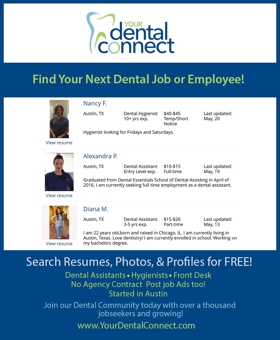 Your Dental Connect On Twitter Artisticdental Dentaljob Dentalassistant Dentalfrontdesk Dental New Dental Jobs In Austin Texas Https T Co 2ykwudw7ua Https T Co Ycyshkxbhm