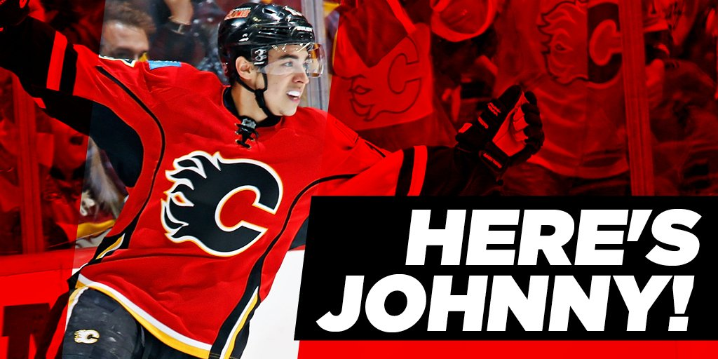 HERE'S JOHNNY! The #Flames have signed Johnny Gaudreau to a six-year contract extension!