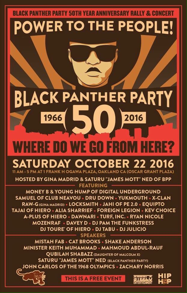 Power to the People! Black Panther 50th Anniversary Rally and Concert @ Oscar Grant Plaza | Oakland | California | United States
