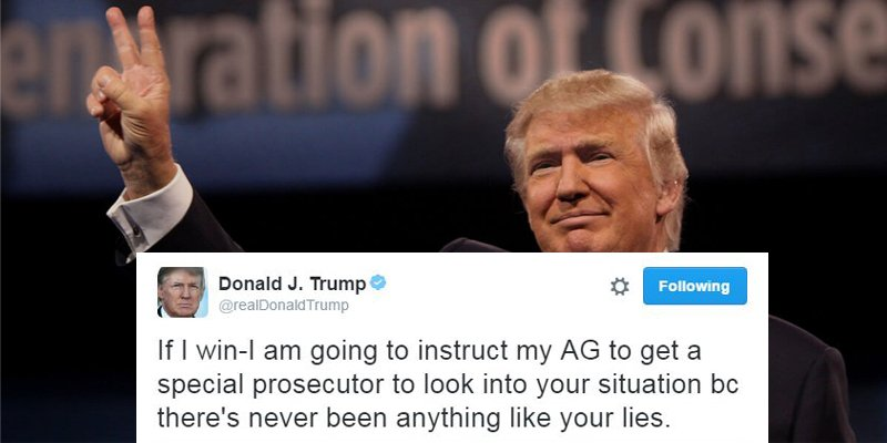 Image result for if i win i am going to instruct donald trump tweet