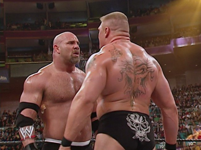 The #WWE rematch between Brock Lesnar and Bill Goldberg is officially on https://t.co/z8PLY3MArX https://t.co/TOMIg9tMFB