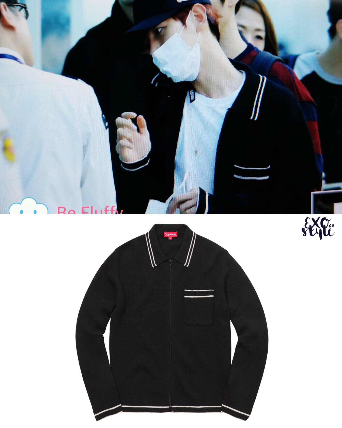 Aliexpress Zip Up Polo Sweater Supreme Ff882 137e2 Jaket Hoodie Zipper Promo Code Exoxostyle On Twitter Airport Baekhyun In Us158 Cr Be