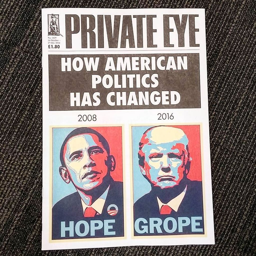 Private Eye: more than we deserve RT @markmobility British paper sums up the devolution of U.S. politics, 2008-2016. https://t.co/QeBnZ9TClA