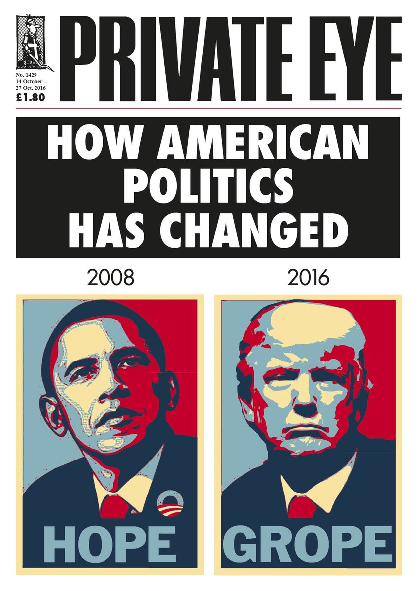 "Private Eye Magazine on Twitter: ""How American Politics Has Changed. Eye  1429, on its way to shops and subscribers now.… """
