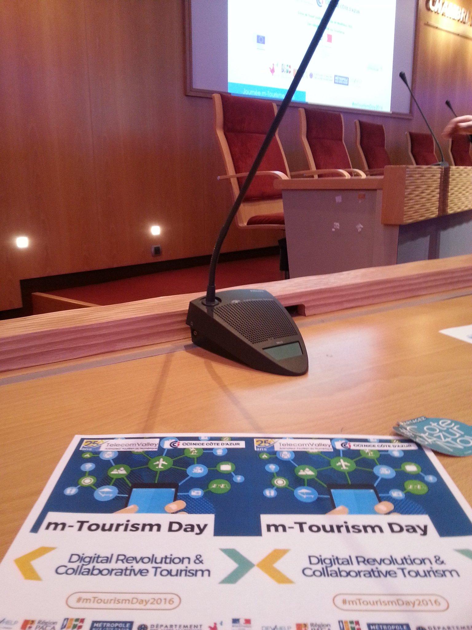 ne bonne journée de mise à jour sur les nouvelles technologies du #m-tourisme. @cci-nice #mTourismDay2016  :) (y) https://t.co/Jq3p4kjeOB