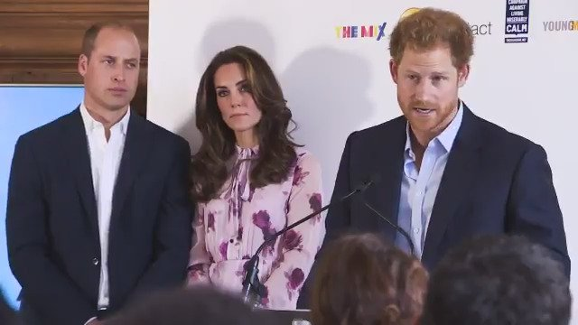The Duke and Duchess of Cambridge and Prince Harry celebrate #WorldMentalHealthDay at the London Eye with @Heads_Together