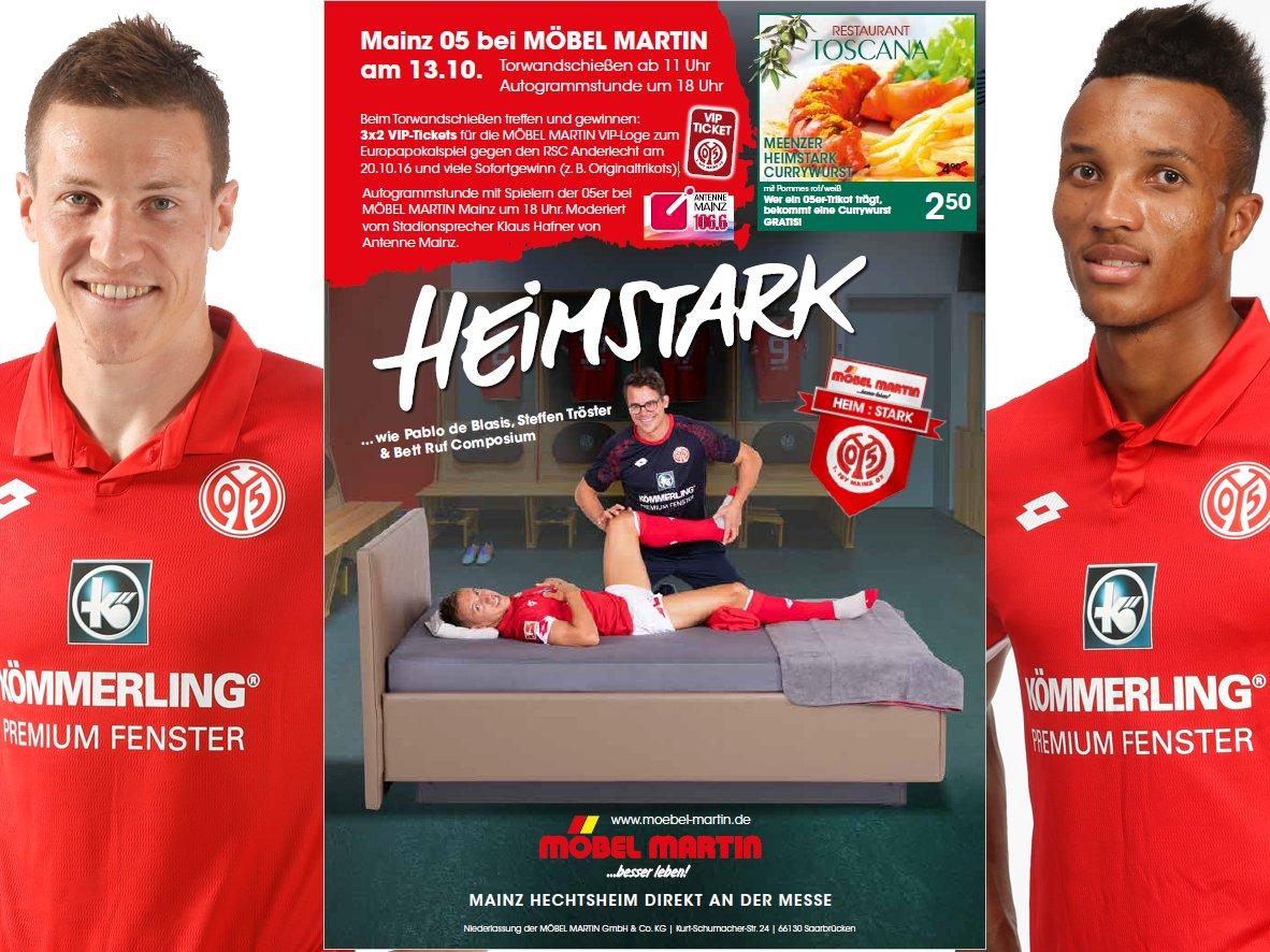 1 Fsv Mainz 05 On Twitter Mainz05 Bei Möbel Martin Donnerstag
