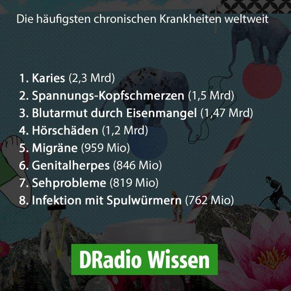 Die Top 8 der chronischen #Krankheiten weltweit... Überraschend? https://t.co/Q4UZStd1zk