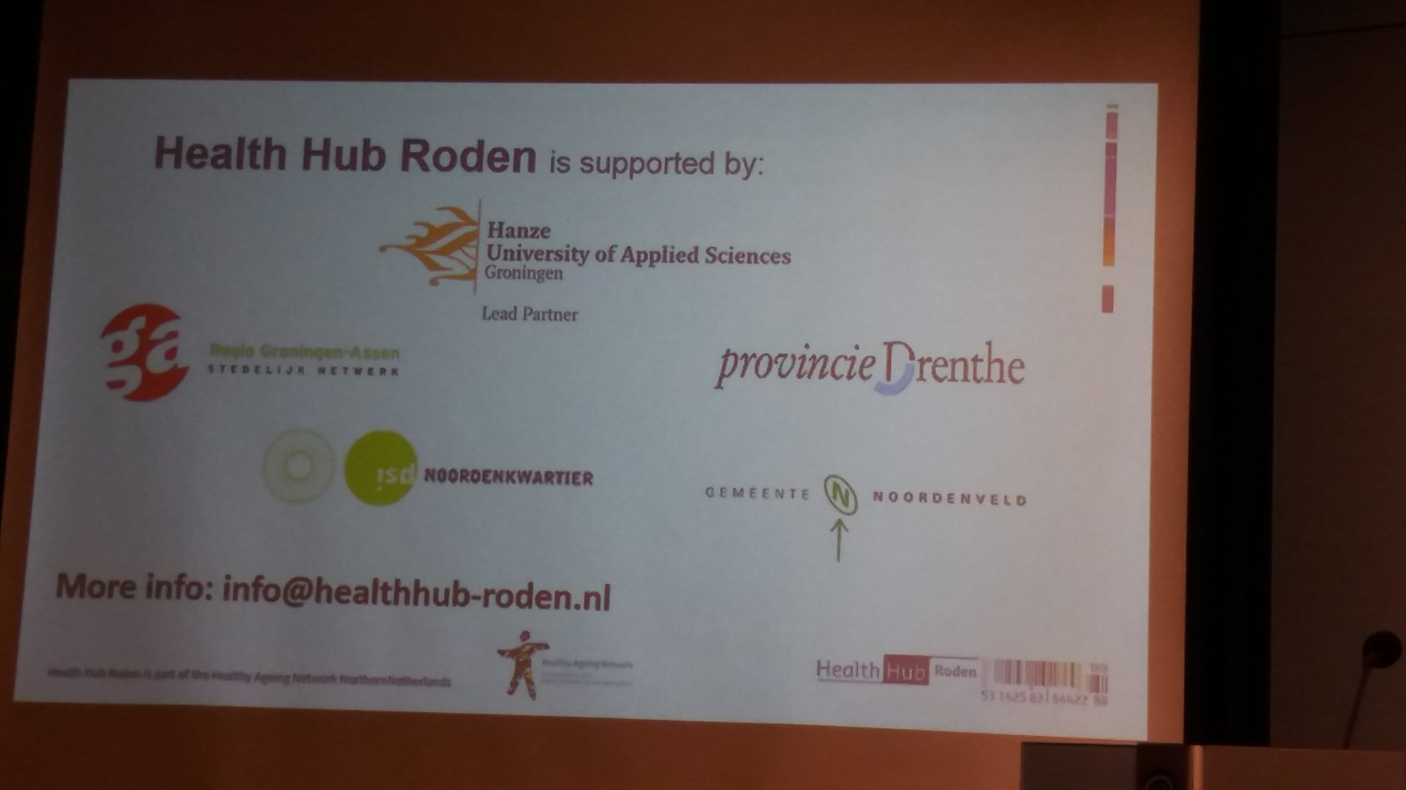 "Workshop "" Healthy Aging Hotspots "" #24hoursNNL  #healthhubroden #brussel https://t.co/CpjaFZAJya"
