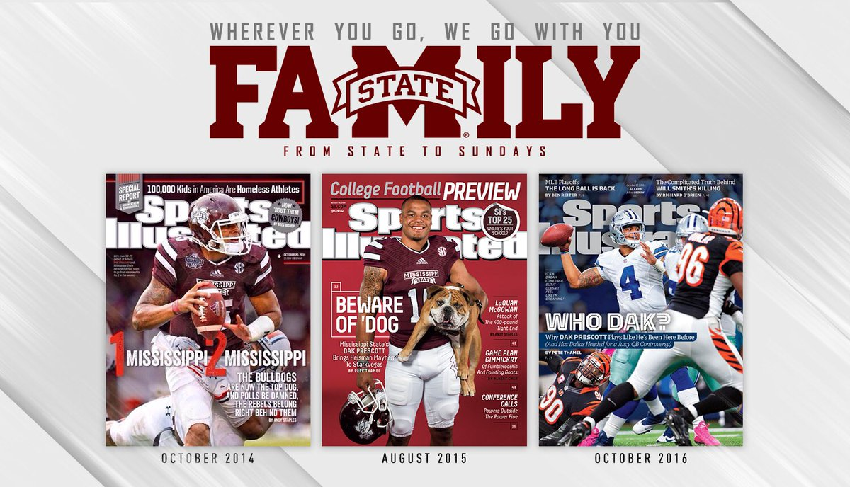 Three straight years with a @SInow cover for @dak!  #FromStateToSundays #HailState https://t.co/cLKTSow4Cw