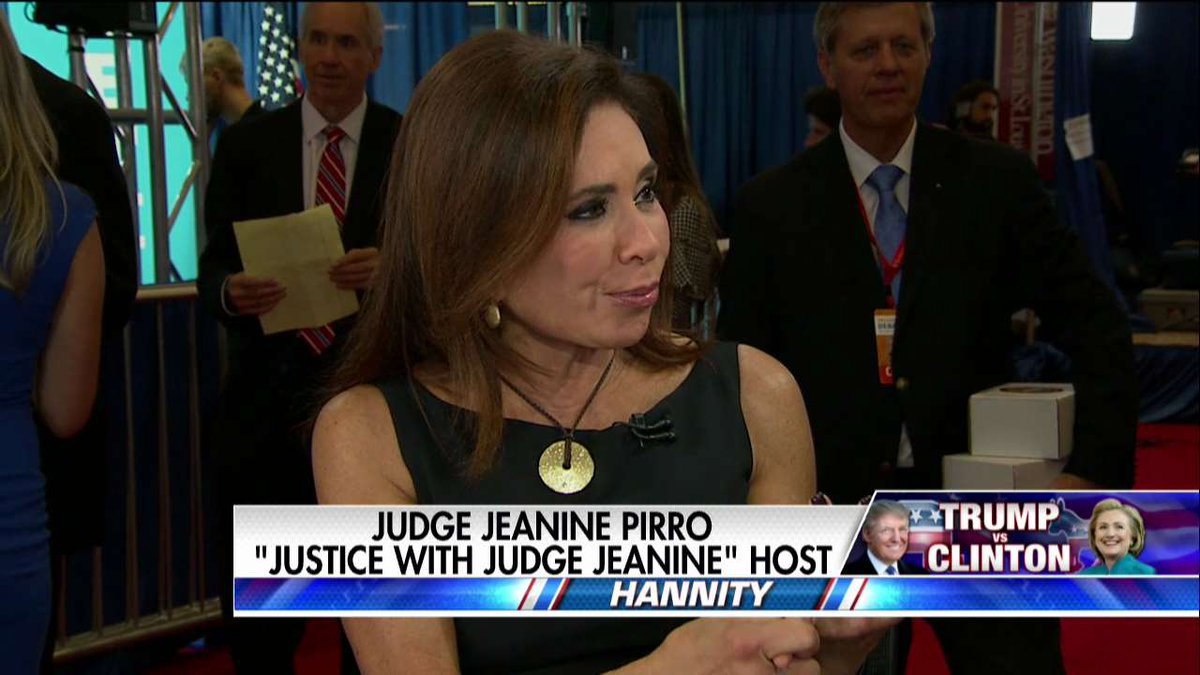 .@JudgeJeanine: No Question There's a 'Prosecutable Case' Against Hillary @seanhannity #Hannity #Debate… https://t.co/uOMisVADO9