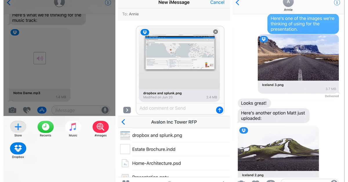Dropbox for iOS lets you sign PDFs, adds iMessage app