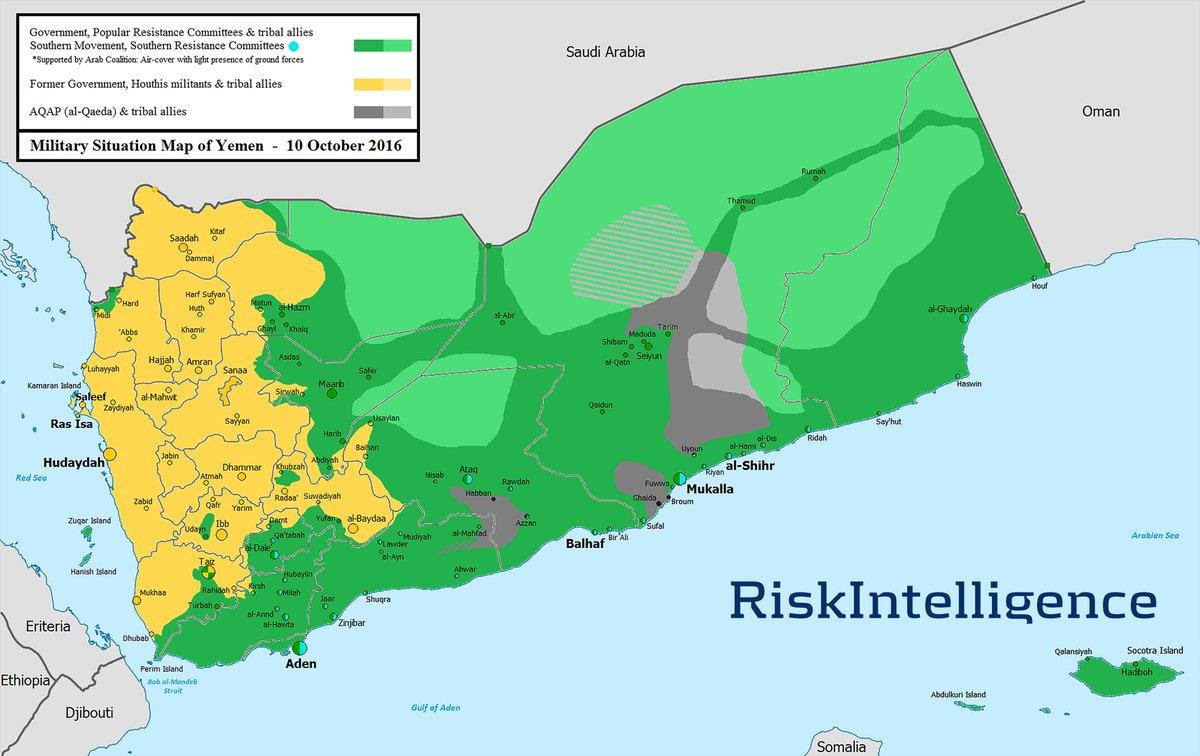 Risk Intelligence On Twitter Updated Yemen Map Few Changes - Sanaa map