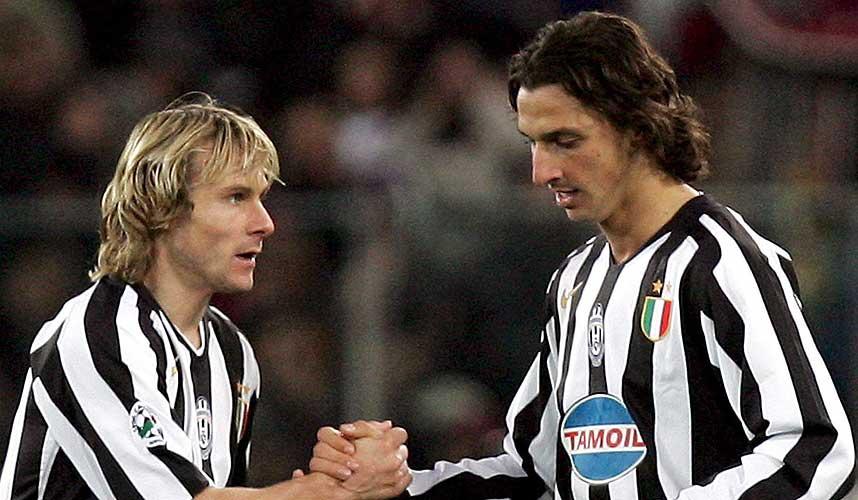 new style ca57a fc392 Pavel Nedved Zlatan Ibrahimovic : Juventus legend Pavel ...
