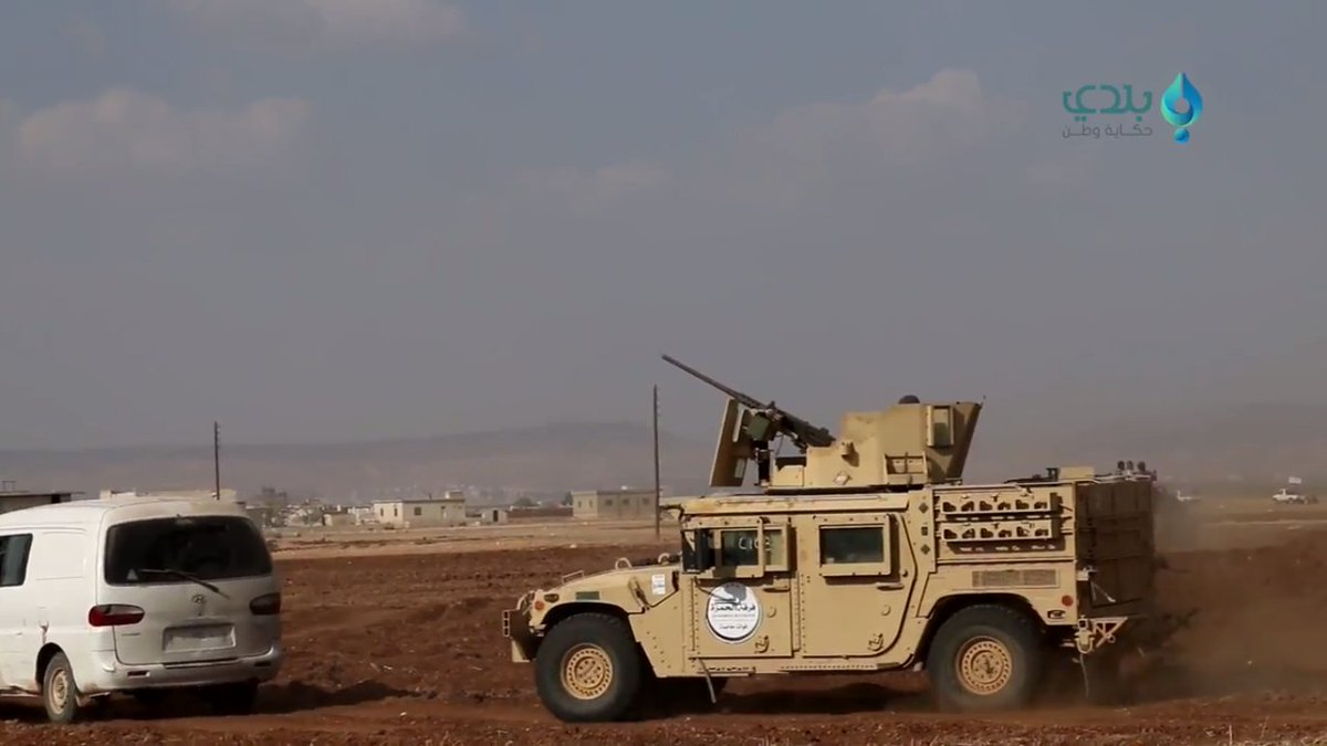 Turkish backed rebels armored HMMWV