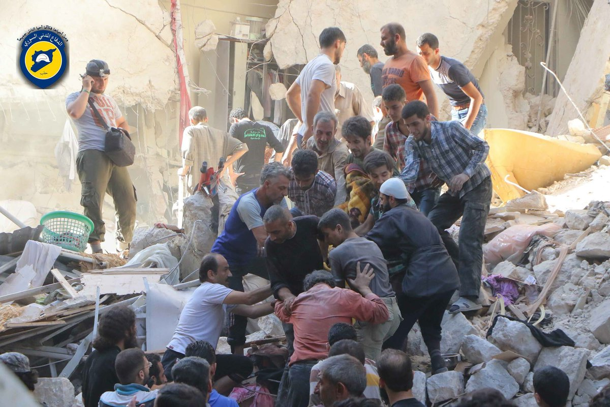 More than 30 people killed and 60 injured as 30 Airstrikes targeted civilian areas in Aleppo city