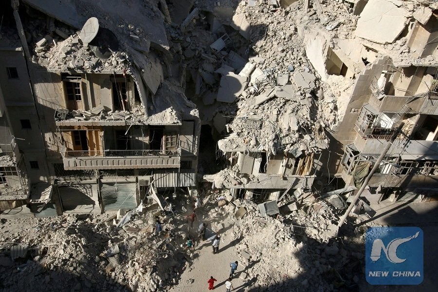 12 killed in airstrikes on rebel-held areas in Syria's Aleppo