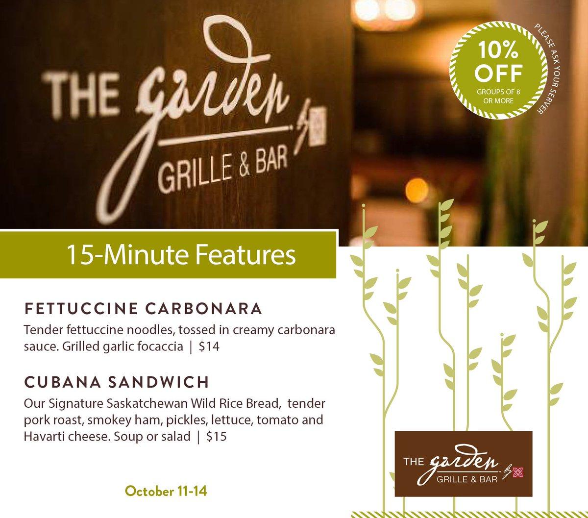 Garden Grille & Bar (@GardenGrilleSK) | Twitter