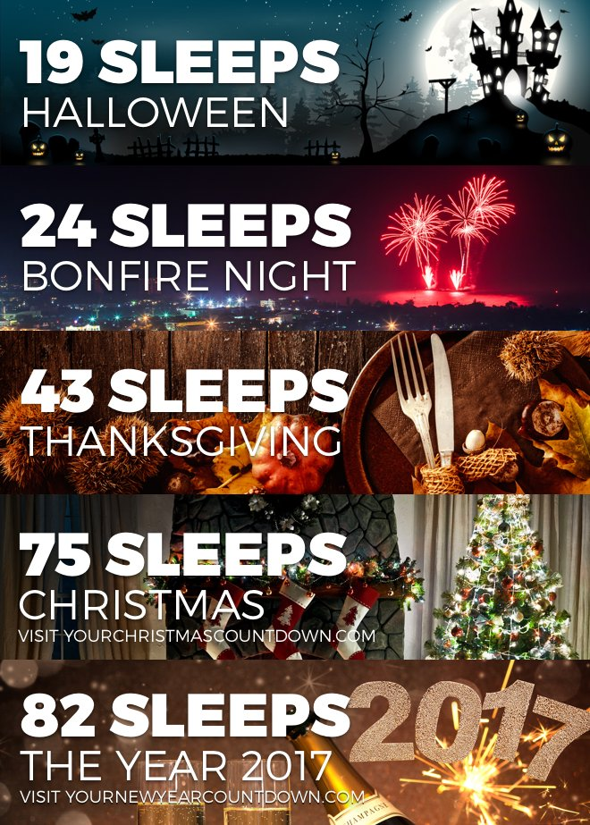 Halloween Thanksgiving Christmas Countdown.Your Christmas Countdown On Twitter Sleeps Until
