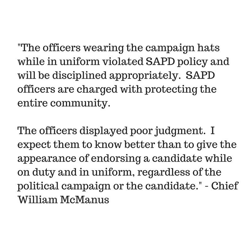 city of san antonio on statement from police chief  never miss a moment