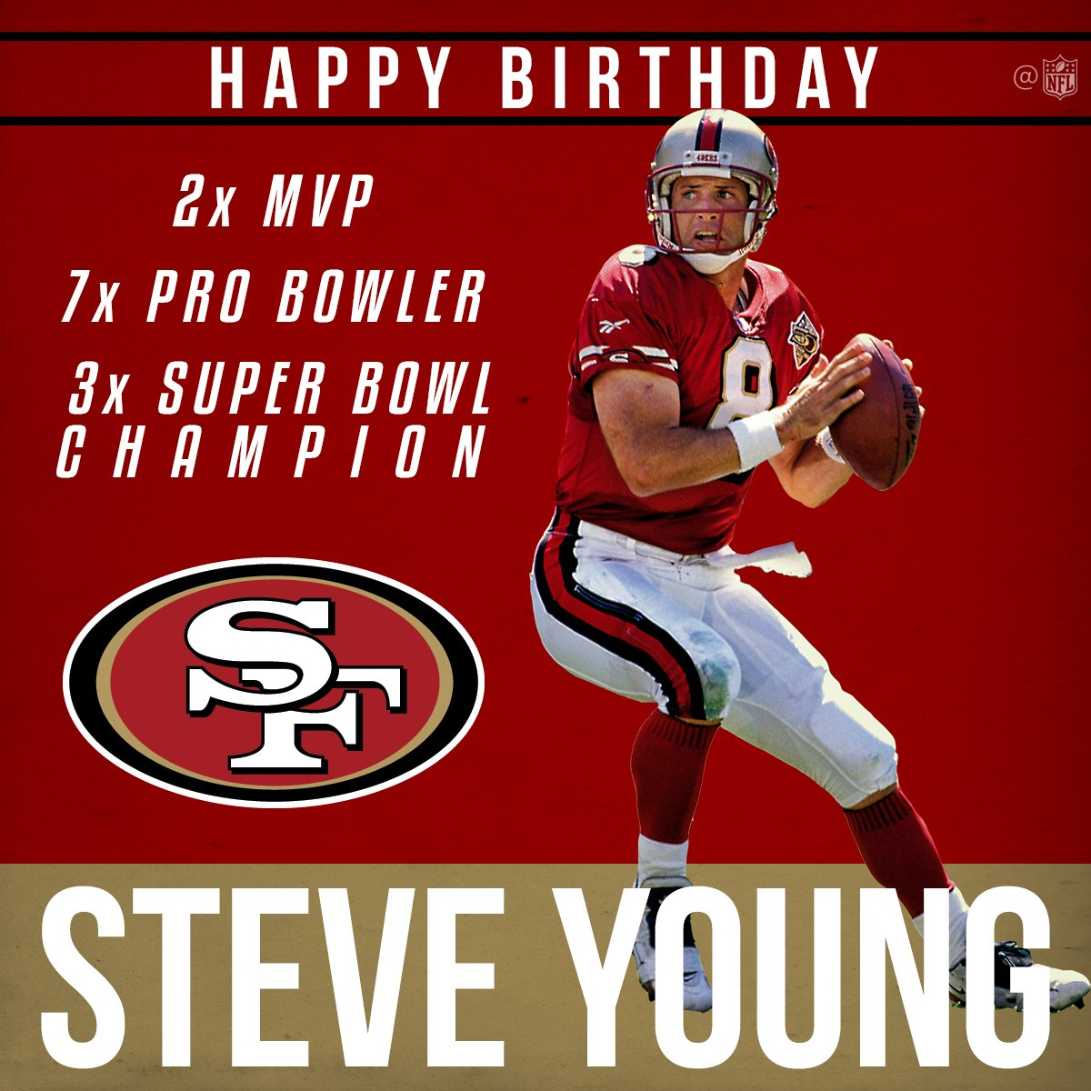Join Us In Wishing 49ers Legend Steve Young A Happy 55th Birthday