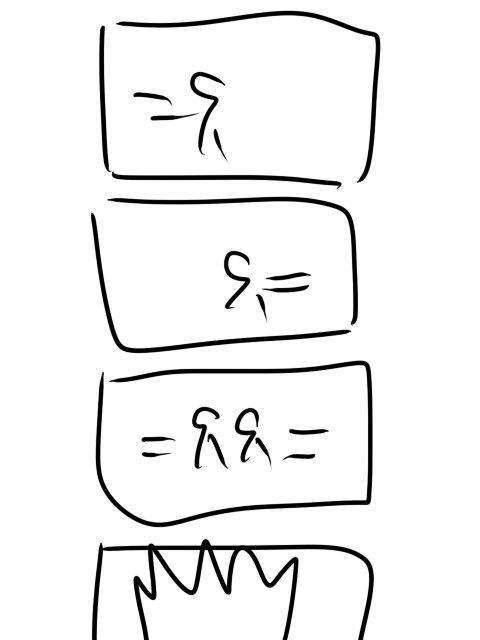 人間は5秒で4コマが描けるのかに挑戦しました https://t.co/M7vQ7O31Ws