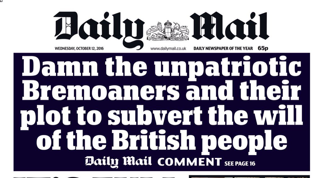 Damn you - all 16 million of you British people who dare to disagree or worry or query or reconsider https://t.co/F66nMvzBA0