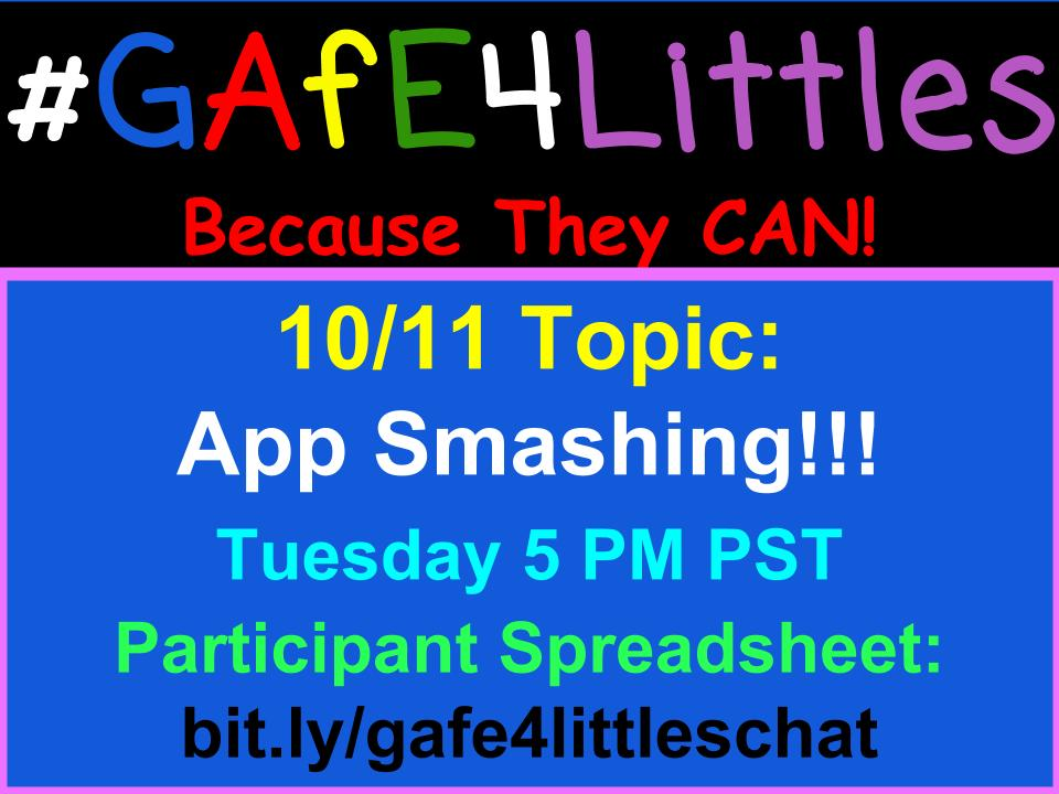 Let's get this #gafe4littles chat started! Pinto here Kinder T from @ArcadiaUnified in Cali! Introduce yourself!!! https://t.co/eqBSk8Keqo