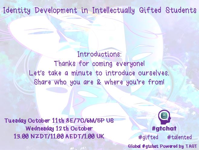 Thumbnail for #gtchat: Identity Development inIntellectually Gifted Students