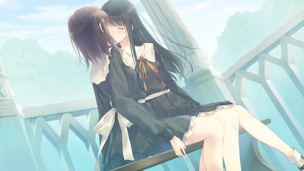 Randomboard En Twitter Wallpaper Yuri Anime Girls